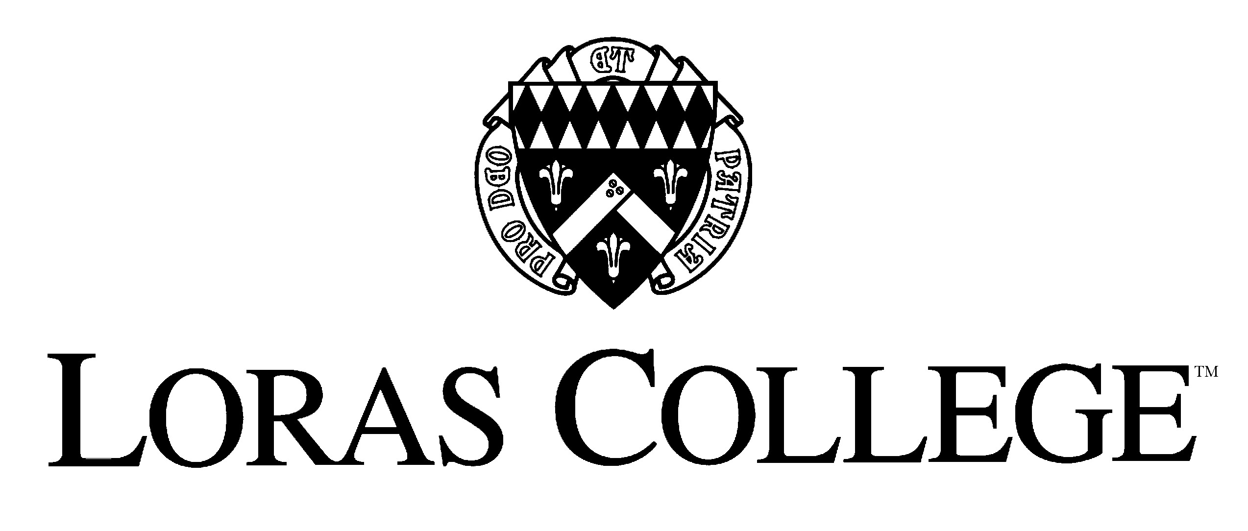Loras College logo stacked